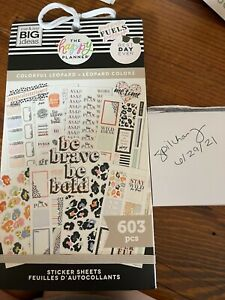 The Happy Planner Colorful Leopard Sticker Book