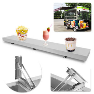 6 Feet Shelf For Concession Window Stand Truck Accessories Business Foldable