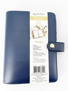 Recollections Yr A5 Planner Binder Blue 1 2 6 Ring Michaels 8 x6