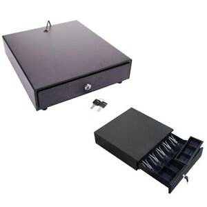 Cash Register Drawer Box 4 Bill 5 Coin Tray Compatible Works W pos Printers Rj11