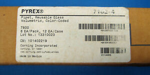 Pyrex 4 Ml Volumetric Pipets X6 New Old Stock Free Shipping C