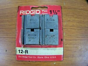New Ridgid 1 1 2 Npt Stainless Steel Alloy Pipe Cutting Dies 12 r Set Of 4