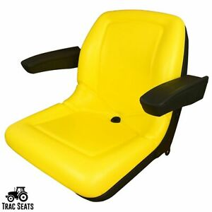 Yellow High Back Seat With Armrests John Deere 650 750 850 950 1050 Tractor