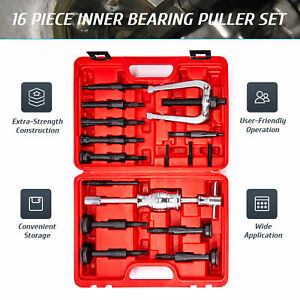 Omt 16pcs Blind Hole Pilot Internal Extractor Remover Bearing Puller Set W Case