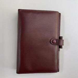 Filofax Vintage Red Leather Planner Lincoln 6 Ring