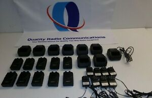 Lot Of Ten Apollo Pro Vp200 Pro 33 37 Mhz Low Band Fire Ems Pagers Cradle