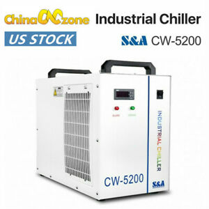 S a Cw 5200 Water Chiller Industrial Cooling System For Laser Engraver Machine