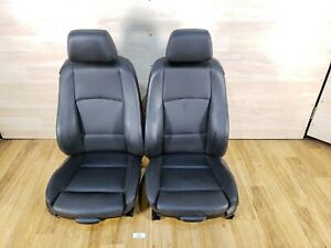 08 13 Oem Bmw E82 135 Coupe Black Boston Leather Left Right Front Seats Pair