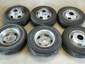 Set Of 6 2017 18 20 2021 Factory Ford Dually 17x6 5 Wheels And 245 75r17 Tires