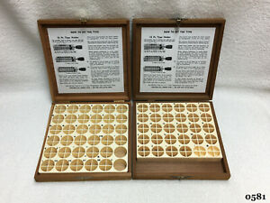 Kingsley Machine 2 empty Wooden Type Boxes Hot Foil Stamping Machine