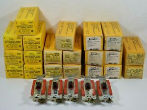 Lot Of 25 New Vintage Hubbell 1221 1221g 1223g Brown Ac Toggle Light Switches