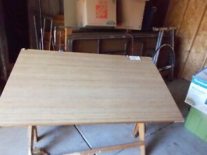 60 Vintage Drafting Table Wood And In Good Condition