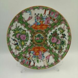 Chinese Antique Canton Famille Rose Handpainted Porcelain Plate Early 20th China