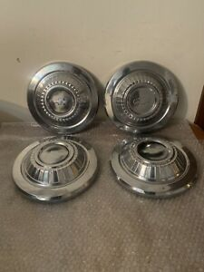 A Set Of 4 Vintage Chevrolet 10 1 2 Dog Dish Hubcaps Free Shipping