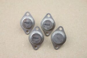 Lot Of 4 Nos Vintage Rca 2n6371 Power Transistor To 3 Silicon 15a 40v Npn
