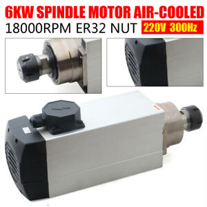 6kw Air Cooled Spindle Motor Er32 Cnc Router Mill Machine Engraving Grinding