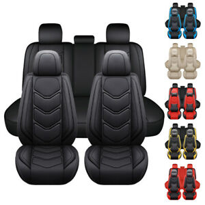 Pu Leather Car Seat Cover Full Set Front Universal Custom Fit 90 Auto Truck Suv