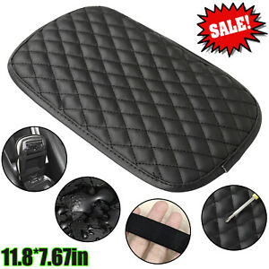 Leather Car Armrest Pad Cover Center Console Box Cushion Mat Protector Universal