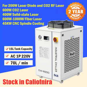 Cw 6200 Industrial Water Chiller For 600w 1000w Fiber Laser 5100w Cool Capacity