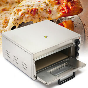 Electric 2000w Pizza Oven Single Deck Stainless Steel Ceramic Stone Fire Stone