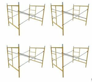 5 Hd Construction Scaffolding Frames 2 Complete Sections 8 Leveling Feet