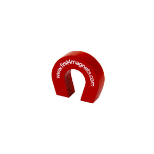 Pocket Size Red Alnico Horseshoe Magnet 3 31lbs Pull 1 X 1 1 8 X 5 16 x40