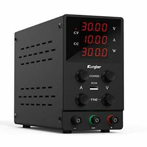 Dc Power Supply Variable Adjustable Switching Regulated Dc Bench 30v 10a Black