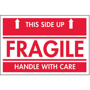 Tapecase 16u869 2 X 3 Adhesive Back Shipping Labels Fragile This Side Up