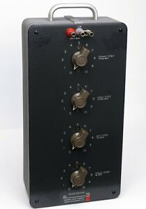 Gr General Radio 1490 f 4 dial Decade Inductor 100 h step To 100mh step 1490f