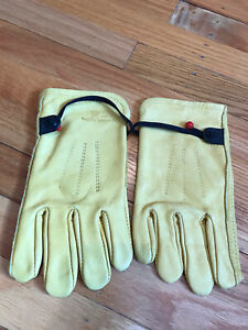 Wells Lamont Leather Gloves Adjustable Sz Small S New