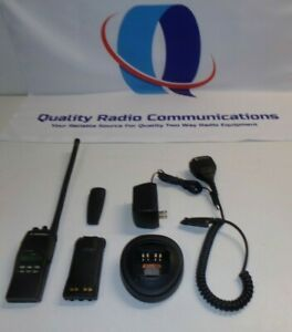 Motorola Ht1250 29 7 42 Mhz Low Band Two Way Radio W Charger Mic Aah25bef9aa5an