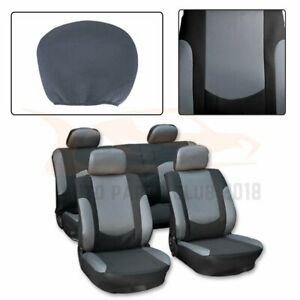 10 Pieces For 2012 2017 Toyota Camry Black Gray Polyester Mesh Car Seat Covers