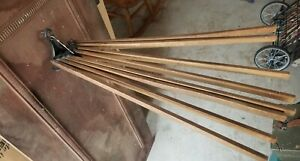 Wood Wall Mount Adjustable Folding 8 Arm Clothes Herb Drying Rack Dryer