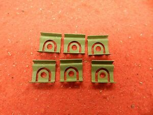 6 Nos 63 64 Ford Mercury Rear Window Moulding Retainers Clips C3az 6342413 A