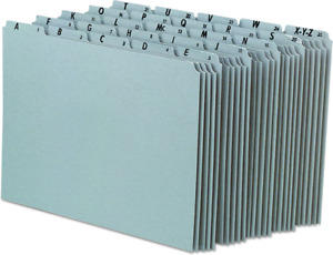 Tab Recycled Gray Pressboardfile Guideletter Office School Supplies Set Of 25