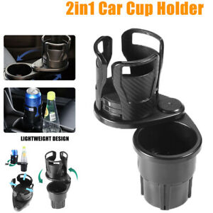Car Double Cup Holder Expander Auto Drink Holder W 360 Rotating Adjustable Base