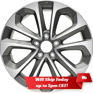 New 18 Machined Grey Replacement Alloy Wheel Rim For 2013 2015 Honda Accord