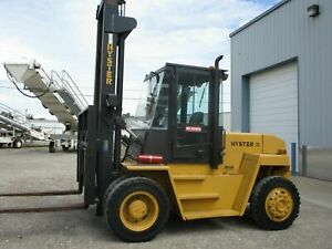 91 Hyster H210xl forklift Diesel Fueled 8 Foot Forks Sideshift Attachment
