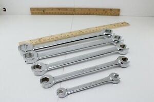Snap On Rxfs605a 1 4 13 16 5 Piece Flare Nut Line Wrench Set Excellent Cond