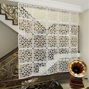 12pcs Hanging Divider Panels Screen Wall Partition Living Room Home Office Decor