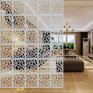 12x White Hanging Screen Living Room Divider Wall Panel Partition Diy Home Decor