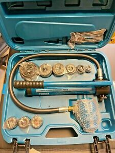 Temco Th0004 2 Hydraulic Knockout Punch Electrical Conduit Hole Cutter Set