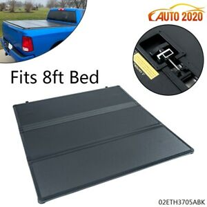 Tri Fold Hard Tonneau Cover Fit For Dodge Ram 1500 2500 3500 8ft Long Bed 02 18