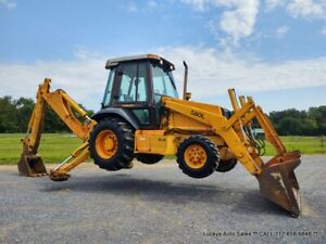Case 580l Backhoe Loader Cab Heat 75hp 4x4 Very Nice Just Serviced I Can Ship