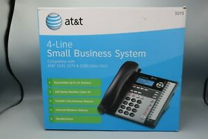 At t 4 line Small Business Corded Telephone System 1040 1070 1080 Black W box