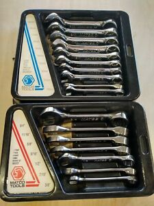 Matco Tools Stubby 12 Point Combination Wrench Set Metric Sae 10 19mm 38 34