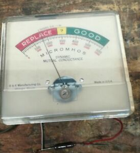 Tested see Pics Old B k 500 And Others Gm Tube Tester Meter Only