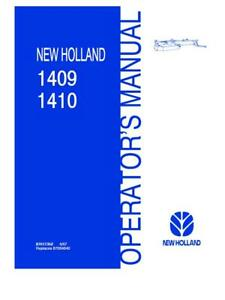 New Holland 1409 1410 Disc Mower Conditioner Operator s Manual