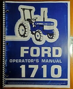 Ford 1710 Tractor 1983 87 Owner s Operator s Manual Se4068b 42171010 4 87