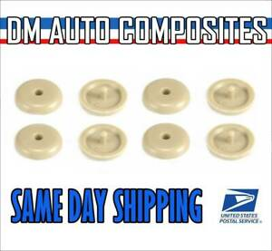 4 Pack Seat Belt Buckle Stop Stopper Button For Mercedes Color Tan